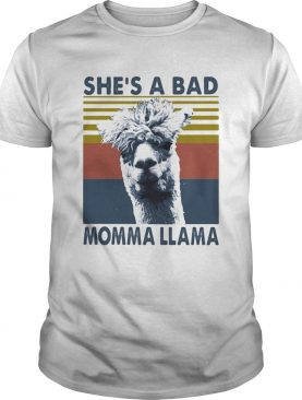 SHES A BAD MOMMA LLAMA VINTAGE RETRO shirt
