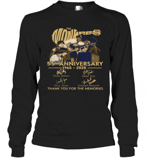 TNT The Monkees 55 Years Anniversary 1965 – 2020 T-Shirt Long Sleeved T-shirt