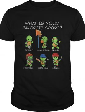 Turtle what is your favorite sport shirt