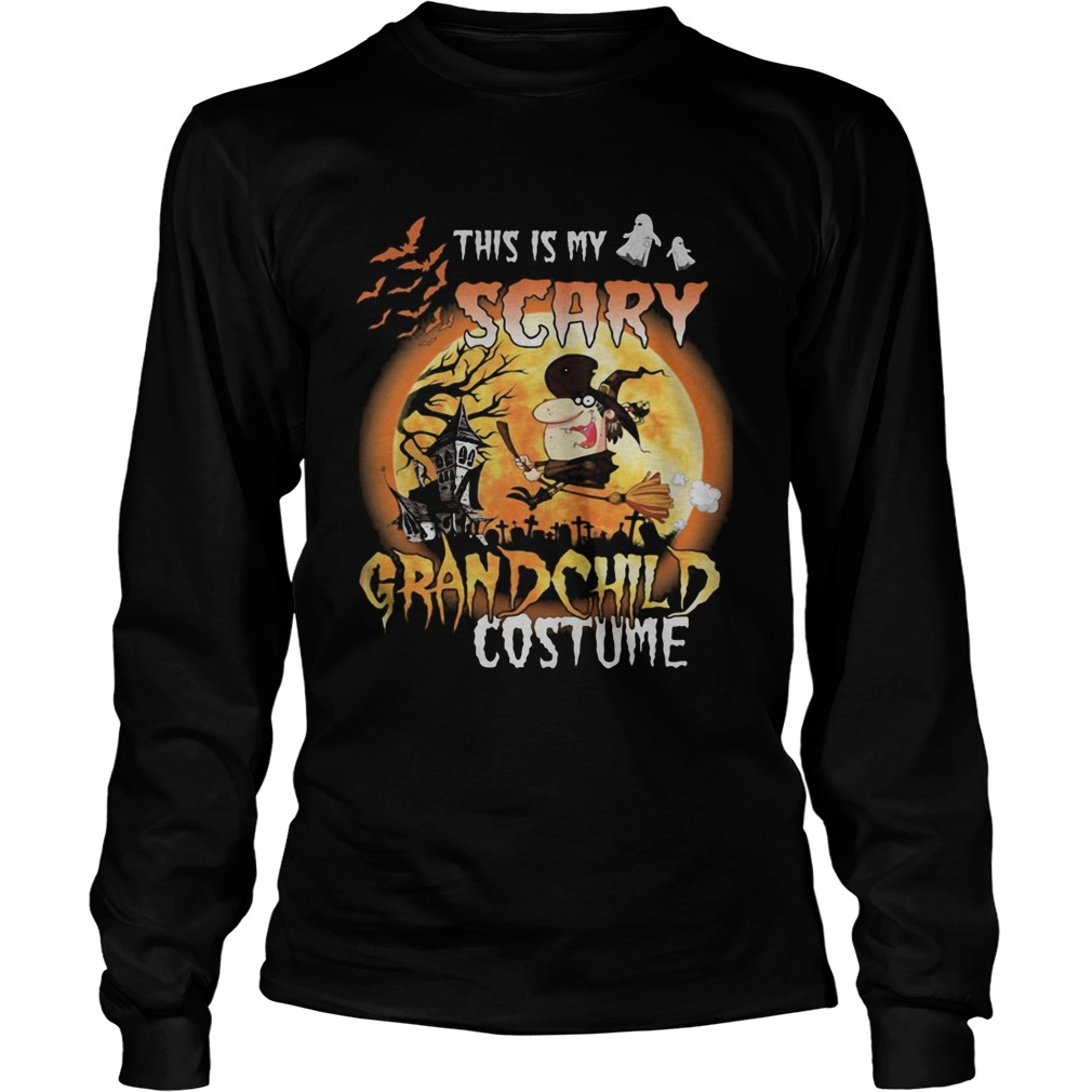 Halloween this is my scary grandchild costume moon Long Sleeve