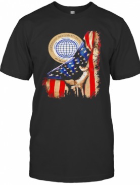 International Union Of North America American Flag Independence Day T-Shirt