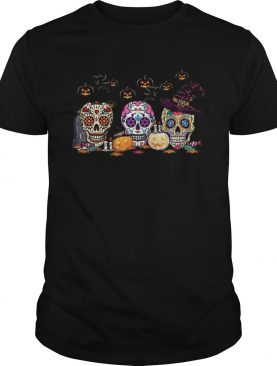 Skull Witch Pumpkin Halloween shirt