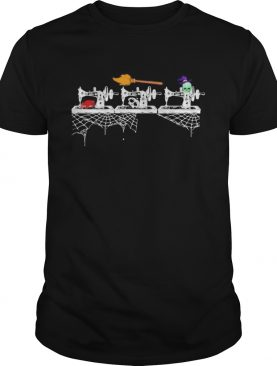 THE SEWING MACHINE WITCH SKULL HALLOWEEN shirt