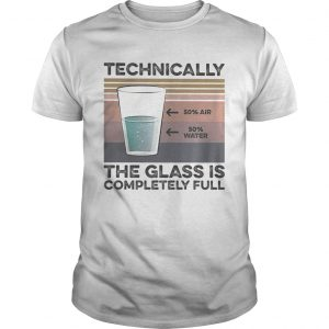 Technically the glass is completely full vintage retro  Unisex