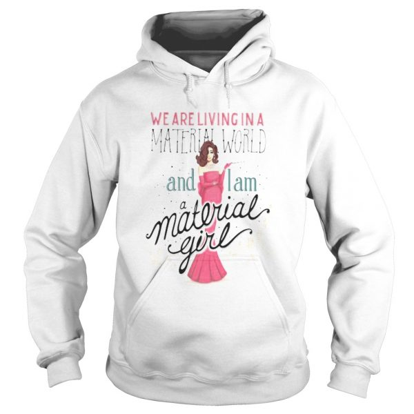 We are living in a material world and i am a material girl  Hoodie
