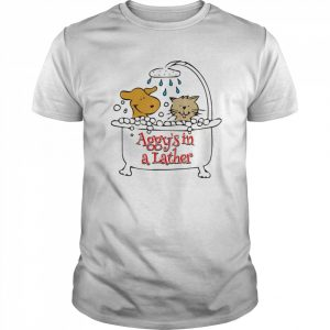 Aggy's in a Lather Dog and cat  Classic Men's T-shirt