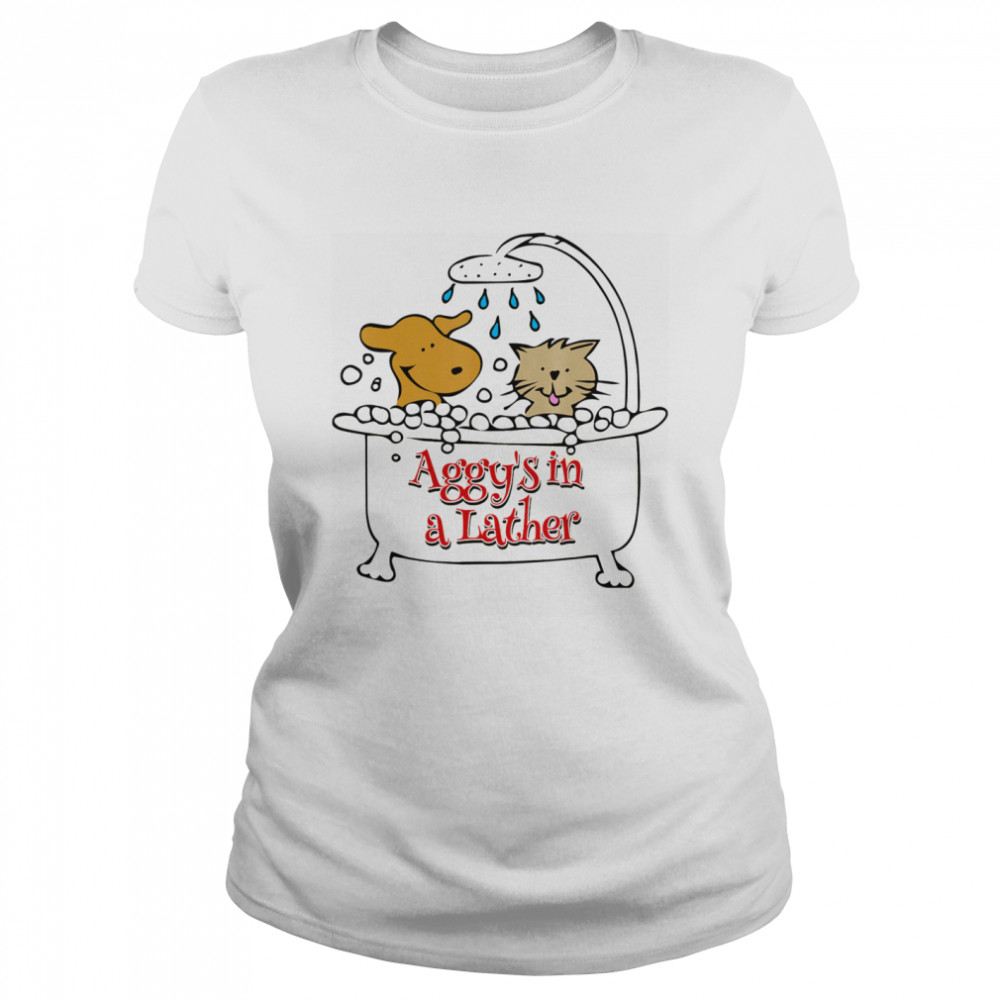 Aggy's in a Lather Dog and cat Classic Women's T-shirt