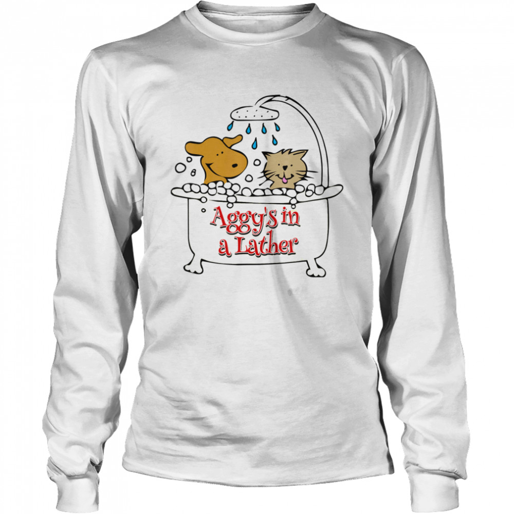 Aggy's in a Lather Dog and cat Long Sleeved T-shirt