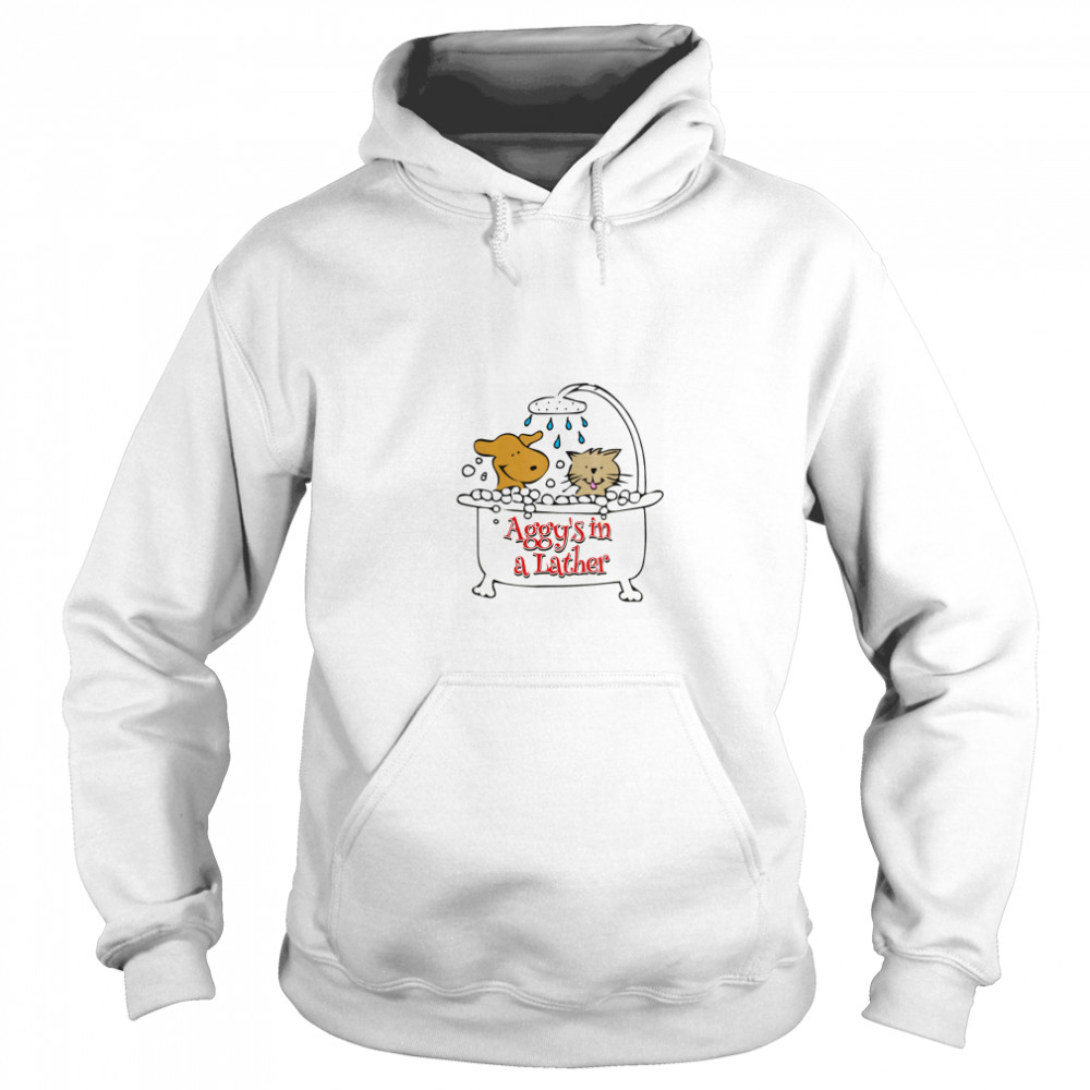 Aggy's in a Lather Dog and cat Unisex Hoodie