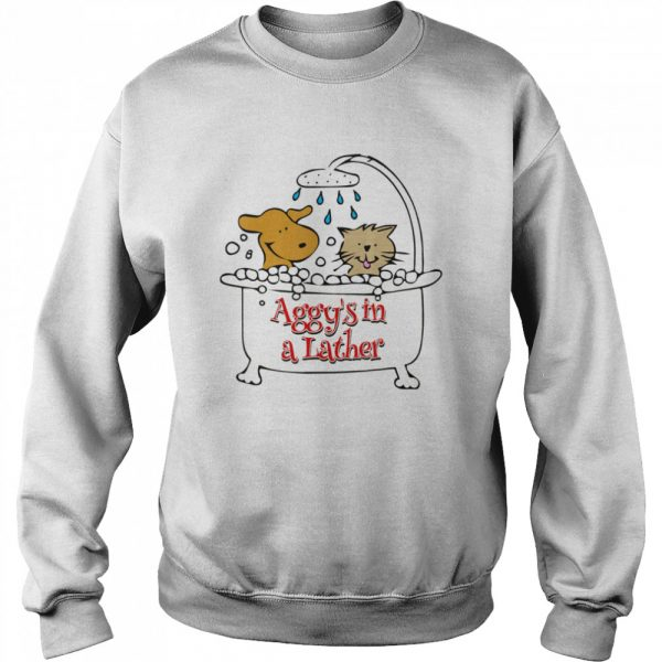Aggy's in a Lather Dog and cat  Unisex Sweatshirt