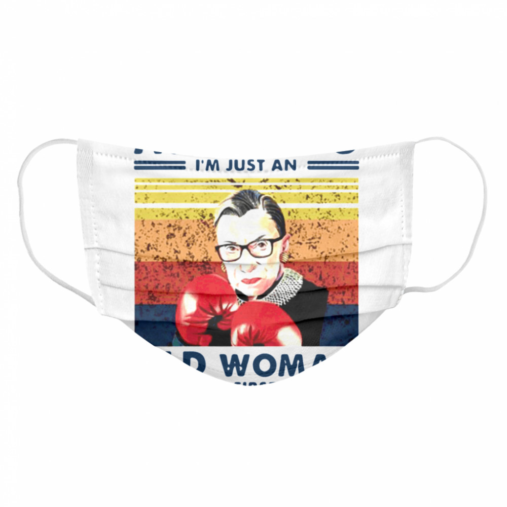 Assuming Im Just An Old Woman Was Your First Mistake Ruth Bader Ginsburg Boxing Cloth Face Mask