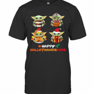 Baby Yoda Happy Hallothanksmas T-Shirt Classic Men's T-shirt