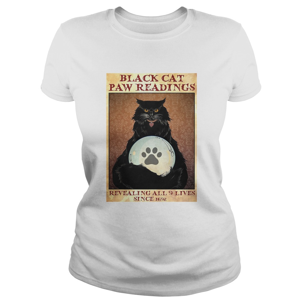 Black Cat Paw Reading Revealing All 9 Lives Since 1692 Classic Ladies