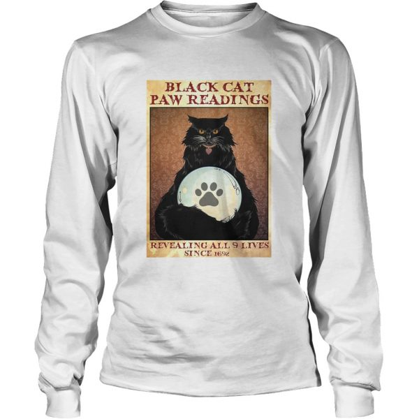 Black Cat Paw Reading Revealing All 9 Lives Since 1692  Long Sleeve