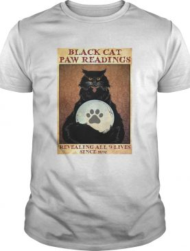 Black Cat Paw Reading Revealing All 9 Lives Since 1692 shirt