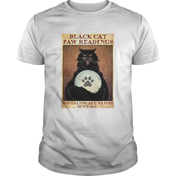 Black Cat Paw Reading Revealing All 9 Lives Since 1692  Unisex