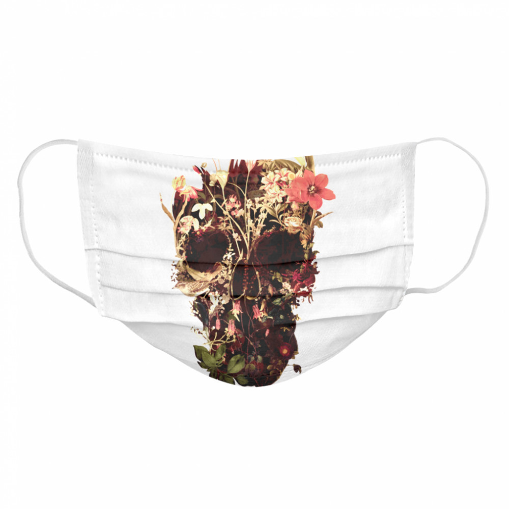 Bloom Skulls Day Of The Dead Muertos Cloth Face Mask
