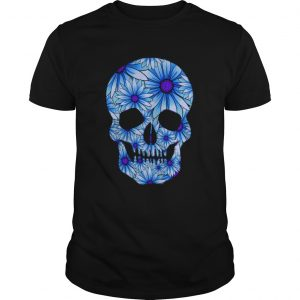 Blue Skull Dia De Los Muertos Day Of The Dead  Unisex