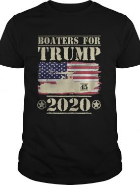 Boaters For Trump 2020 45 Vintage American Flag Boating shirt