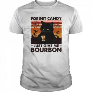 Cat Forget Candy Just Give Me Bourbon  Classic Men's T-shirt