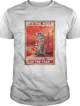 Christmas Cat Its The Most Wonderful Time Of The Year shirt
