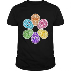 Day Of The Dead Sugar Skulls Funny Retro  Unisex
