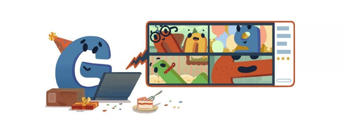 Google celebrates its 22nd birthday w/ homepage doodle that accurately depicts a 2020 party