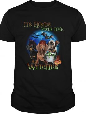 Halloween Dachshund Its Hocus Pocus Time Witches tshirt
