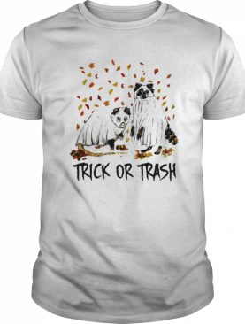 Halloween cat ghost trick or trash shirt