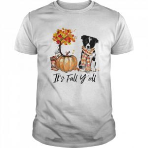 Its Fall Yall Border Collie Dog Halloween  Classic Men's T-shirt
