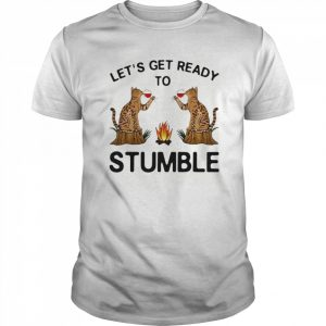 Let's Get Ready To Stumble Cat Drinking Wine  Classic Men's T-shirt