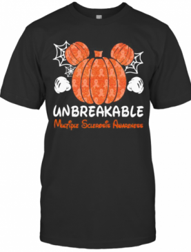 Mickey Mouse Pumpkin Unbreakable Multiple Sclerosis Awareness T-Shirt