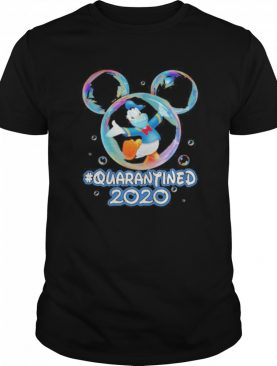 Mickey mouse donald duck wear mask quarantined 2020 shirt