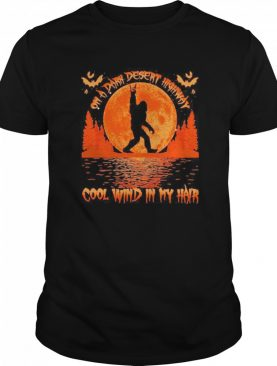 On a dark desert highway dog feel cool wind in my hair moon blood halloween shirt
