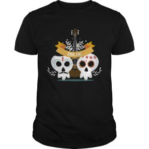 Skull Couple Guitar Day Of The Dead  Unisex
