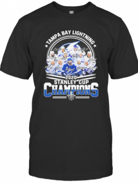 Tampa Bay Lightning 2020 Stanley Cup Champions Signatures T-Shirt