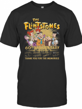 The Flintstones 60Th Anniversary 1960 2020 Thank You For The Memories Signatures T-Shirt