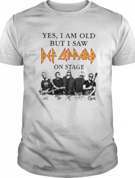 Yes I Am Old But I Saw Def Zeppelin Signatures shirt