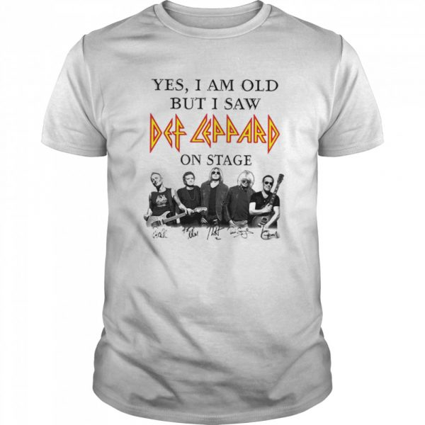 Yes I Am Old But I Saw Def Zeppelin Signatures  Classic Men's T-shirt