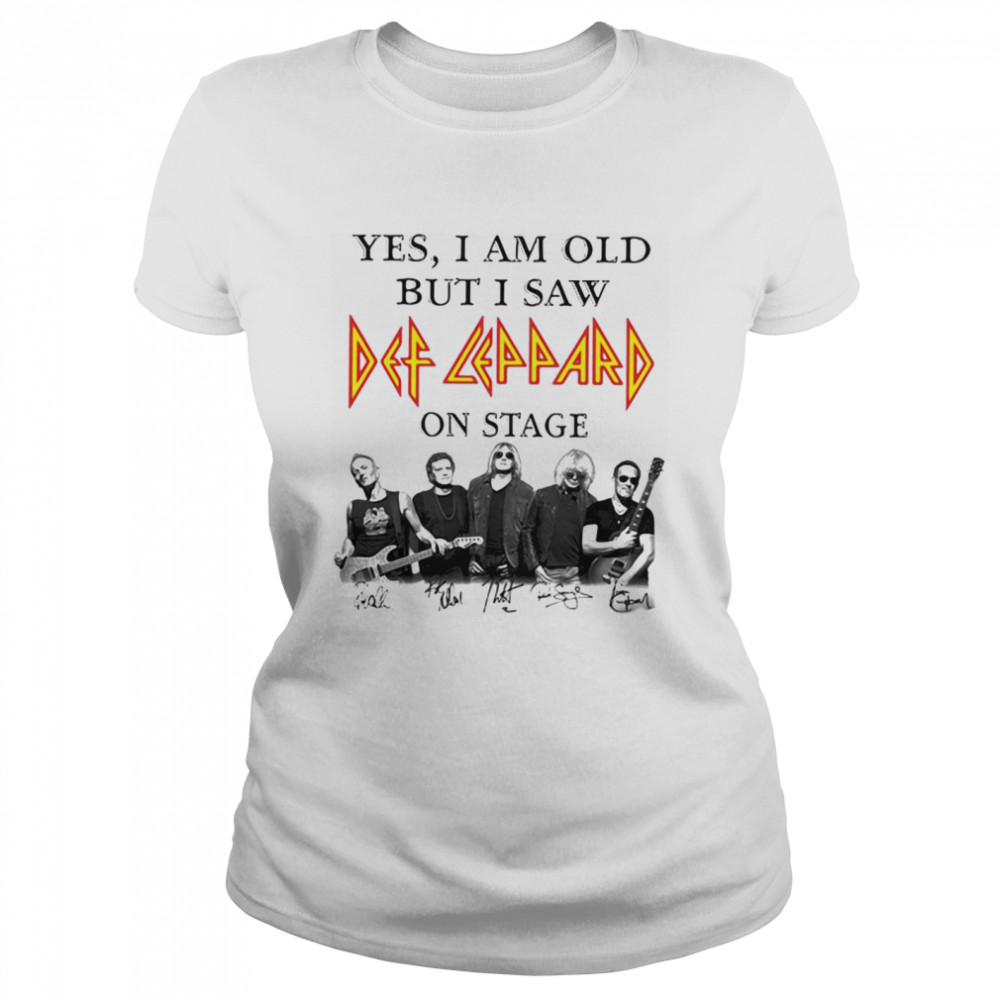Yes I Am Old But I Saw Def Zeppelin Signatures Classic Women's T-shirt