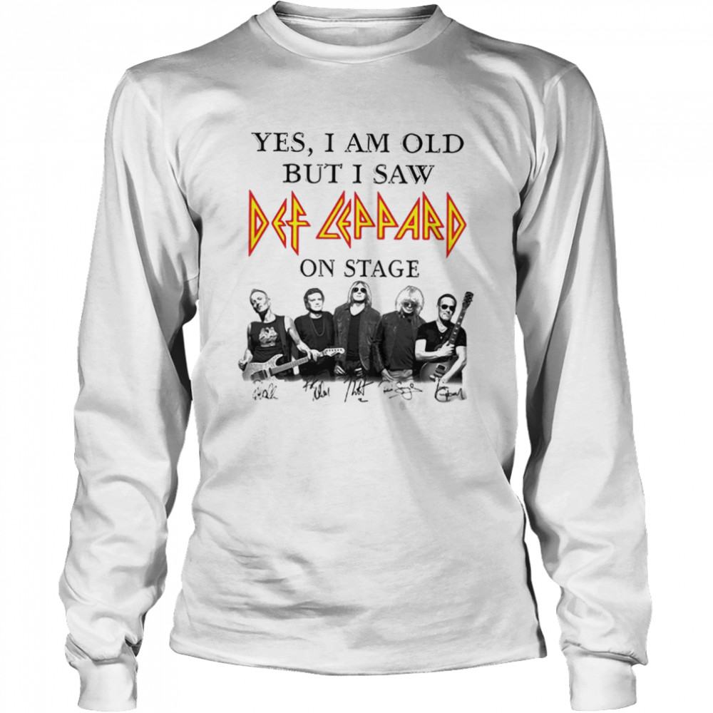 Yes I Am Old But I Saw Def Zeppelin Signatures Long Sleeved T-shirt