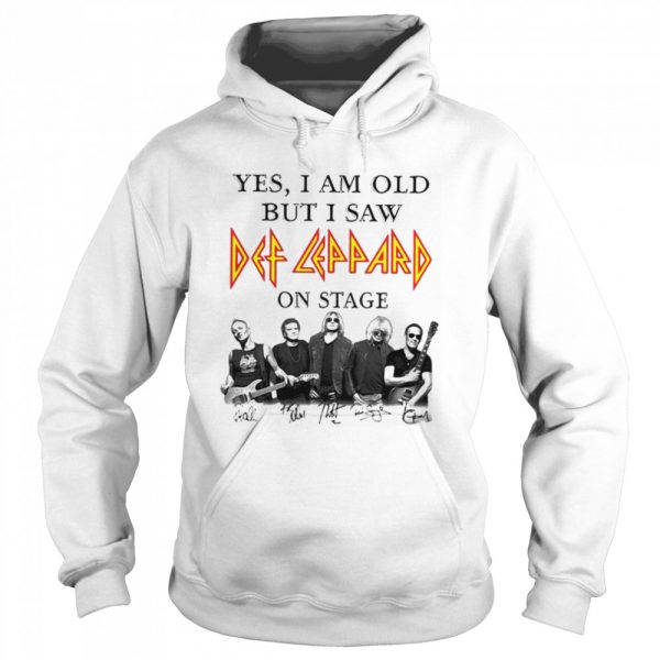 Yes I Am Old But I Saw Def Zeppelin Signatures  Unisex Hoodie