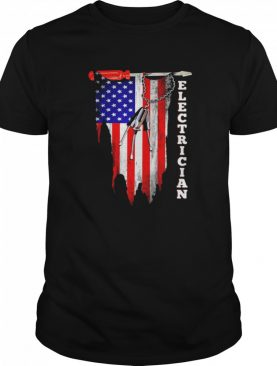 Electrician american flag shirt