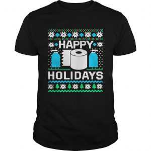 Happy Holidays Toilet Paper Hand Sanitizer Ugly Christmas  Unisex