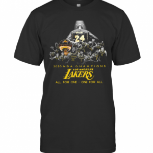 Kobe Bryant 2020 NBA Champions Los Angeles Lakers All For One One For All T-Shirt Classic Men's T-shirt