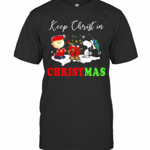Snoopy And Charibow Keep Christ In Christmas T-Shirt Classic Men's T-shirt