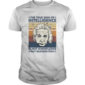 The True Sign Of Intelligence Is Not Knowledge But Imagination Vintage  Unisex