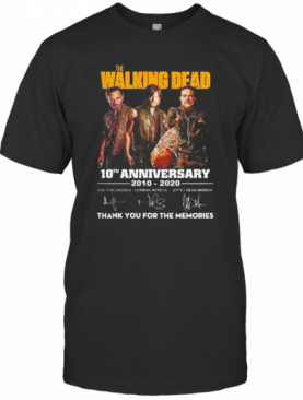The Walking Dead 10Th Anniversary 2010 2020 Thank You For The Memories T-Shirt