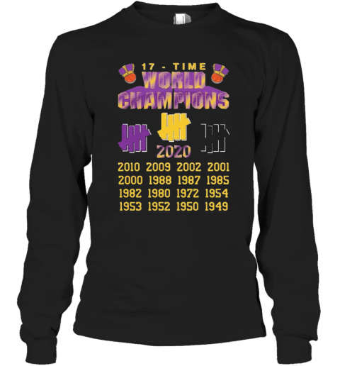 Undefeated Lakers 17 Time Champion T-Shirt Long Sleeved T-shirt