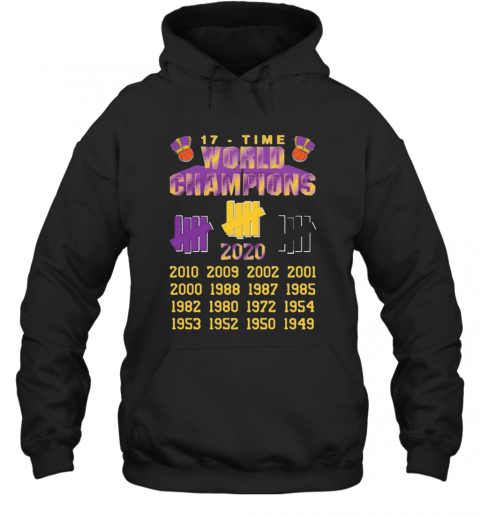 Undefeated Lakers 17 Time Champion T-Shirt Unisex Hoodie